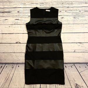 Calvin Klein Black cocktail midi dress